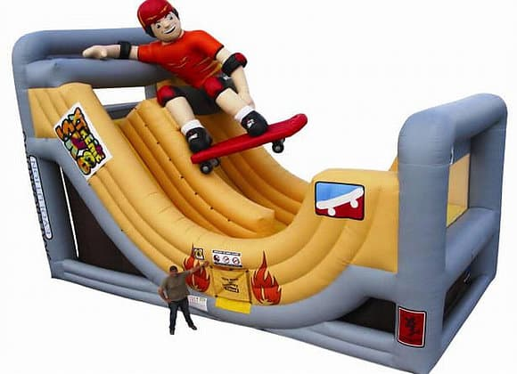 Extreme Skate Slide Obstacle Course For Kids