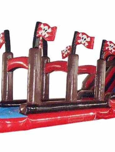 Pirate Ship Water Slide and Slip
