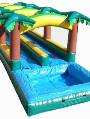 Tropical slip and slide water slide