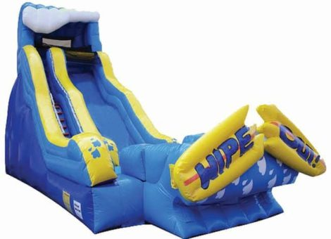 Wipe out Dry/Wet inflatable Slide