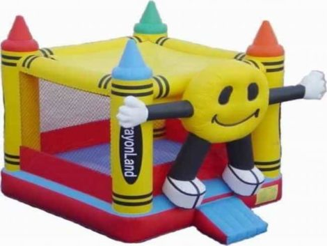Inflatable Crayon smiling Bouncing castle
