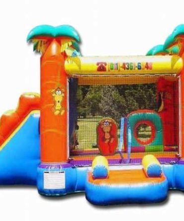 Safari Jumper Combo bouncy castle
