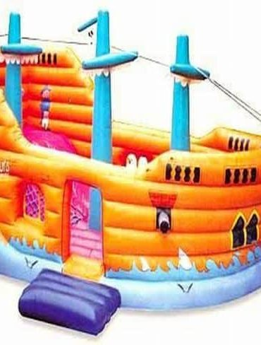pirate ship bouncy castle with slide