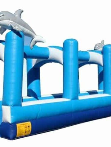 Ocean wave dolphin slip and slide Inflatable water slide