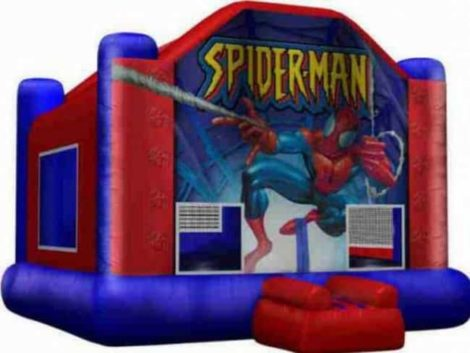 spider man jumping castle