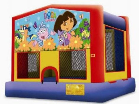 Wacky Arched Bounce Castle With art panel ( Module Bounce )
