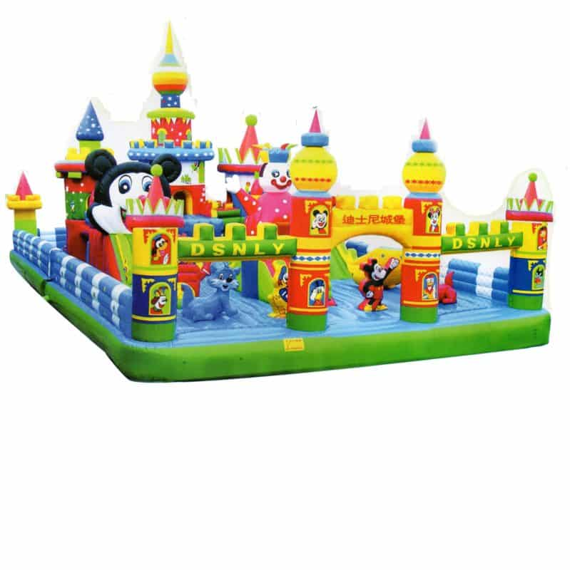 interactive mickey park jumping castle combo