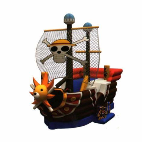 Pirate ship kids inflatable slide