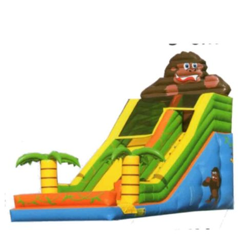 Tropical big foot inflatable water slide