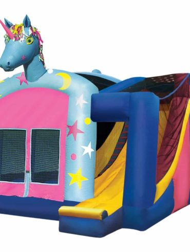 4 in 1 unicorn jumping castle combo