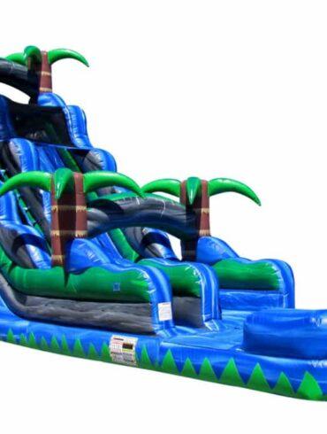 blue crush inflatable water slide 22 feet