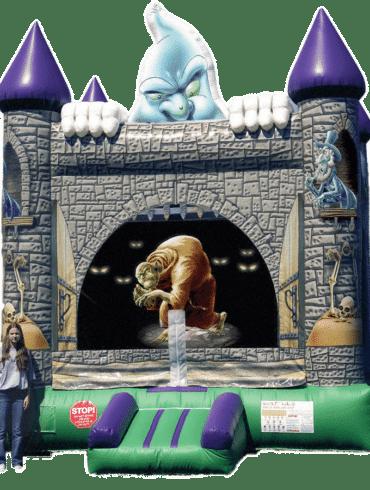 creepy Halloween bouncy castle